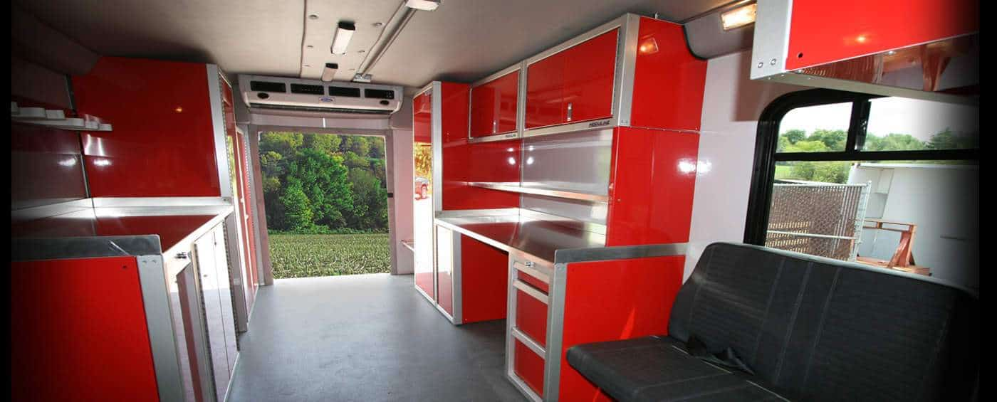Aluminum Cabinets for Enclosed Trailers