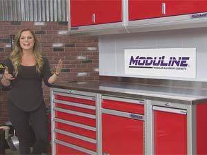 Moduline Aluminum Cabinets featured on All Girls Garage
