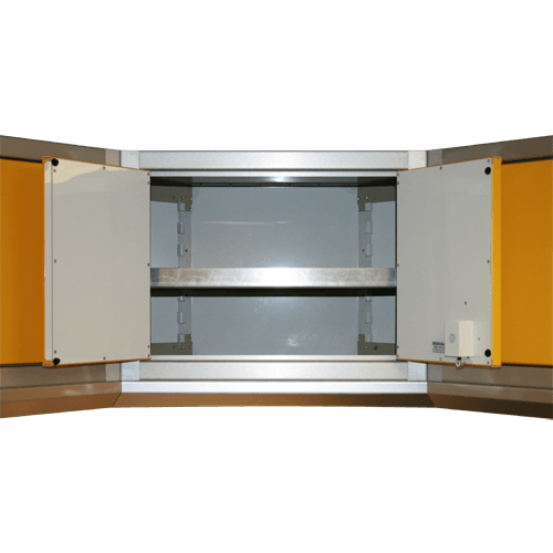 Corner Cabinet Shown With Adjustable Shelf Option