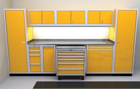 Moduline PROII aluminum garage cabinet combinations