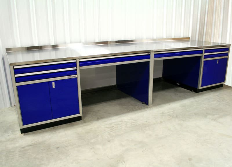 Aluminum Cabinets For Workstation In Garage Or Shop
