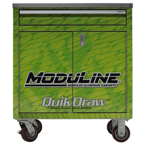 Wrapped Aluminum Mobile Base Cabinet