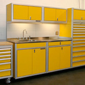 Custom Metal Garage Cabinets for Storage