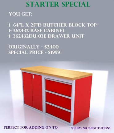 Current Specials for Moduline Cabinet Systems