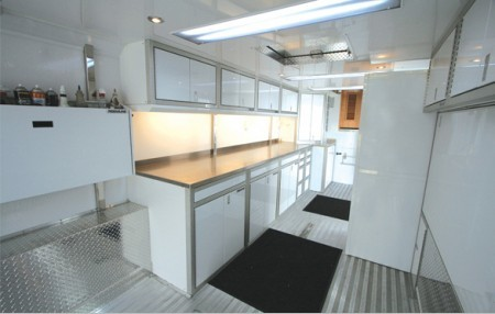 Lightweight Aluminum Enclosed Trailer Cabinets