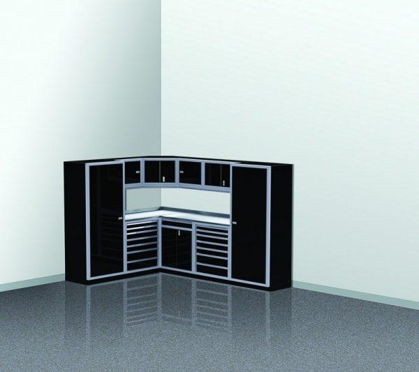 "PROIITM Garage Cabinet Combination 88"" - 120"" Wide Garage Corner #PGC010-01XC"