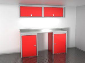 6' Wide Sportsman II™ Trailer And Vehicle Aluminum Cabinet Combination #SPTC006-010 $1580.00 Ea.