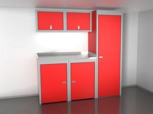 6' Wide Sportsman II™ Trailer And Vehicle Aluminum Cabinet Combination #SPTC006-030 $2205.00 Ea.