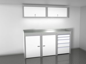 6' Wide Sportsman II™ Trailer And Vehicle Aluminum Cabinet Combination #SPTC006-040 $2675.00 Ea.