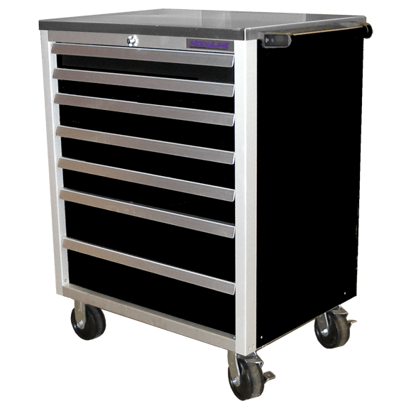Mobile Workstation With Drawers For Tool Storage