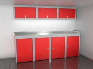 8' Wide Sportsman II™ Trailer And Vehicle Aluminum Cabinet Combination #SPTC008-010 $2615.00 Ea.