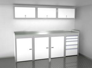 8' Wide Sportsman II™ Trailer And Vehicle Aluminum Cabinet Combination #SPTC008-020 $3335.00 Ea.