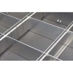 Aluminum Drawer Dividers for Garage & Trailer Accessories