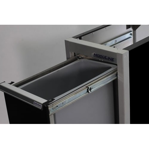 Aluminum Recycle & Waste Bin Cabinets For Trailers