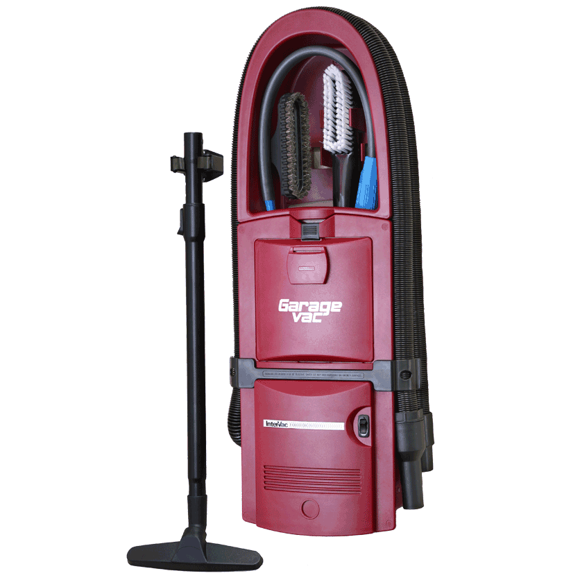 Red Flush Mount Garage Vacuum