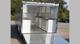 High End Trailer Cabinet Storage