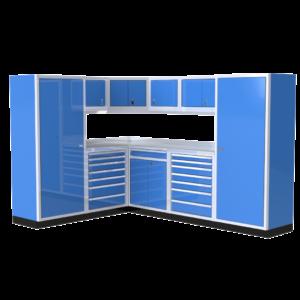 ProII™ Garage Cabinet Combination 88″ – 120″ Wide Garage Corner #PGC010-01XC