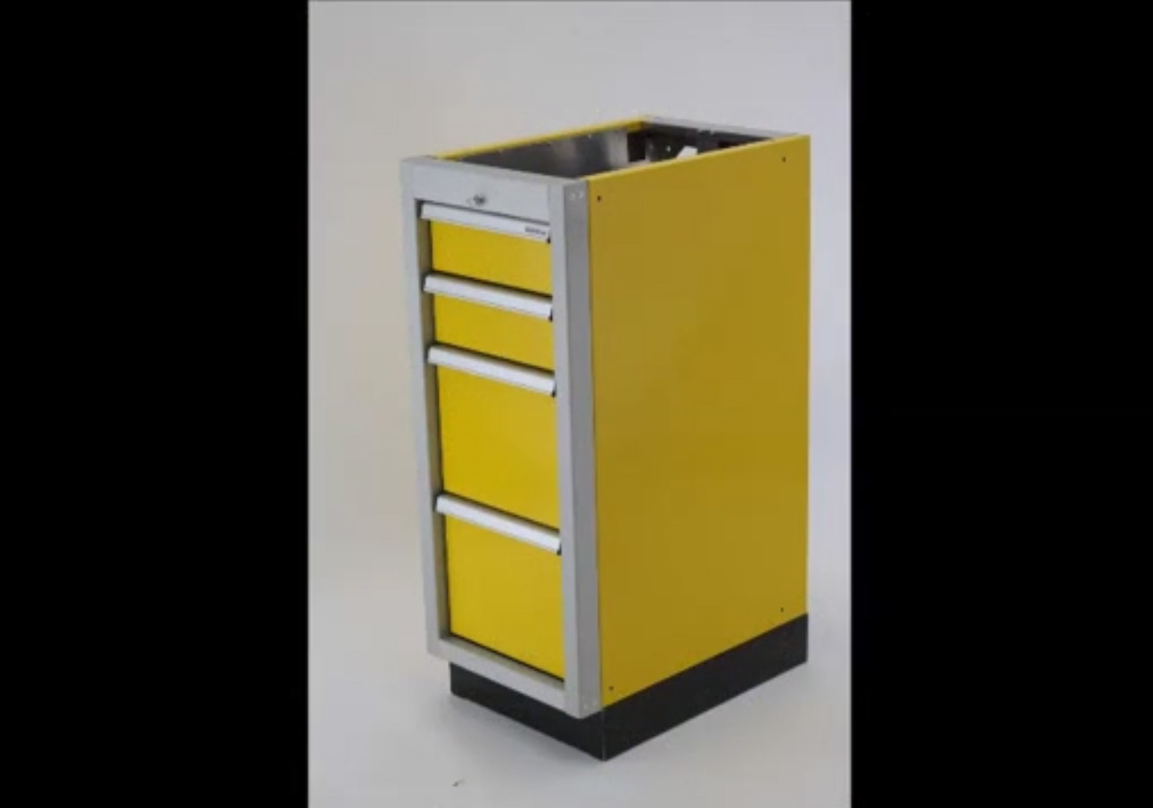 Aluminum Large Drawer With File System Cabinets