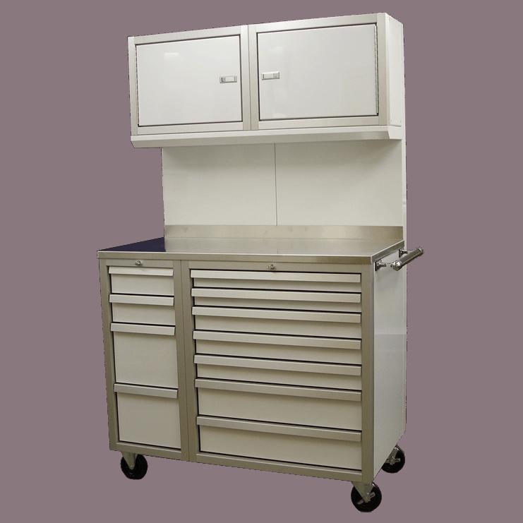 Mobile Aluminum Workstation Cabinets For Storage