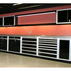 Aluminum Garage Cabinet Valance & Trophy Shelf