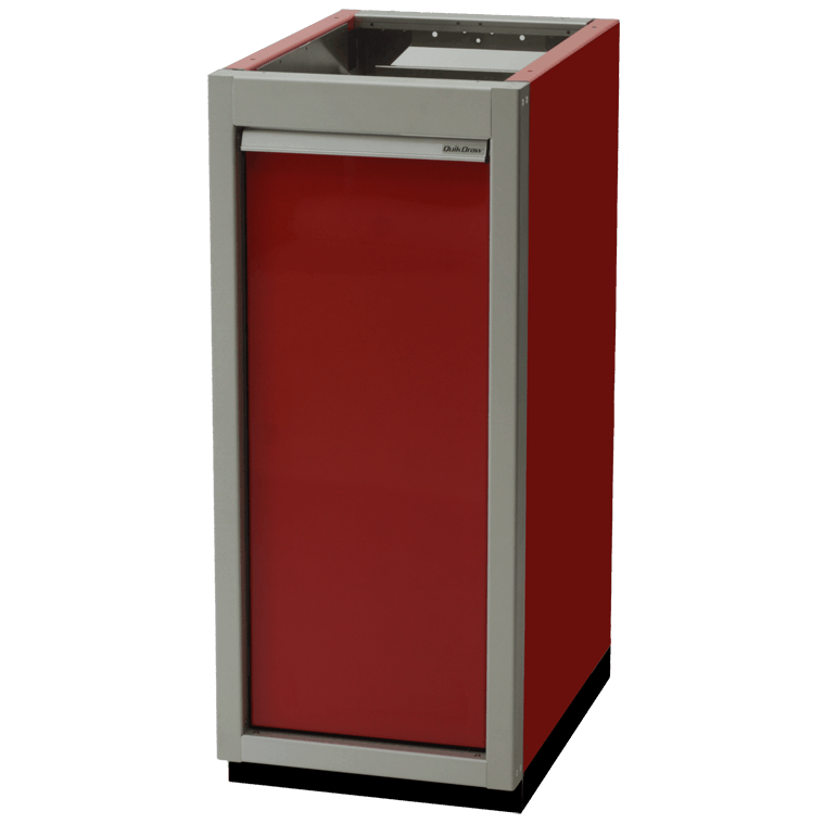 ProII™ SERIES Trailer Aluminum Recycle Waste Bin Cabinets Featuring QuikDraw® Single Action Latch System