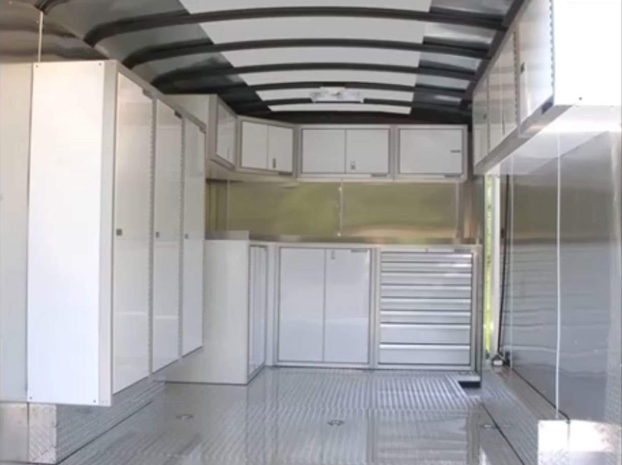 SERIES Trailer Aluminum Wheel Well Cabinets Video