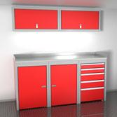 Enclosed Cargo Trailer Lightweight Aluminum Cabinets