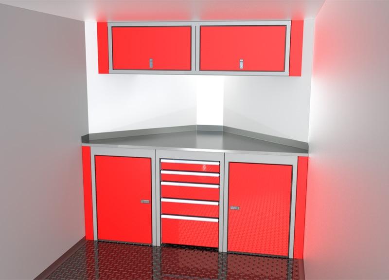 Sportsman II™ V-Nose Trailer Cabinet Combination For 6' To 7' Wide Interior, Up To 32' Deep V #SPTC007-130 $2680.00 Ea.