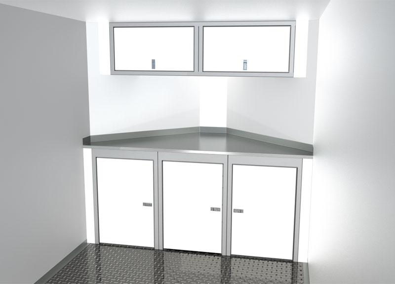 Sportsman II™ V-Nose Trailer Cabinet Combination For 6' To 7' Wide Interior, Up To 44' Deep V #SPTC007-120 $1930.00 Ea.