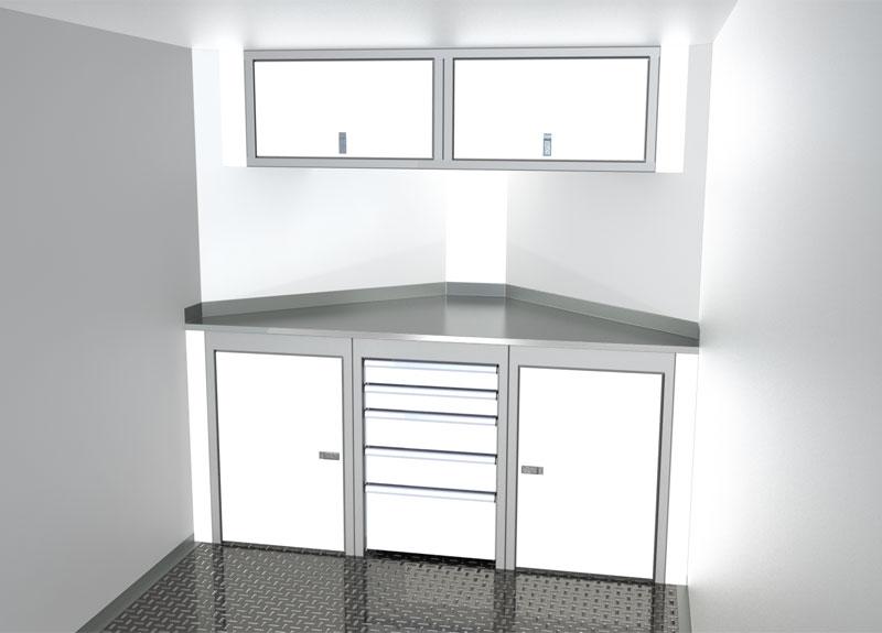Sportsman II™ V-Nose Trailer Cabinet Combination For 6' To 7' Wide Interior, Up To 44' Deep V #SPTC007-140 $2780.00 Ea.