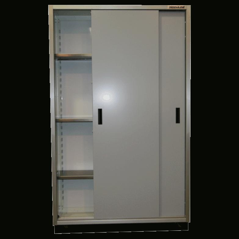 Aluminum Garage Sliding Door Cabinets Moduline Cabinets