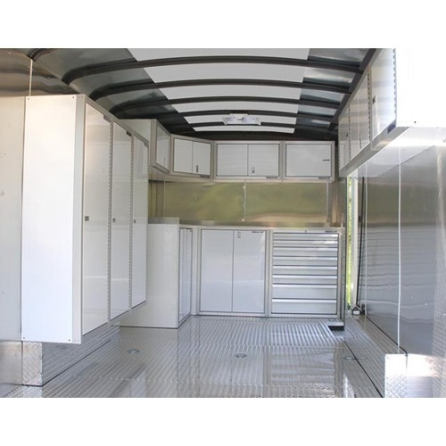 Aluminum Wheel Well Cabinets For Enclosed Trailers