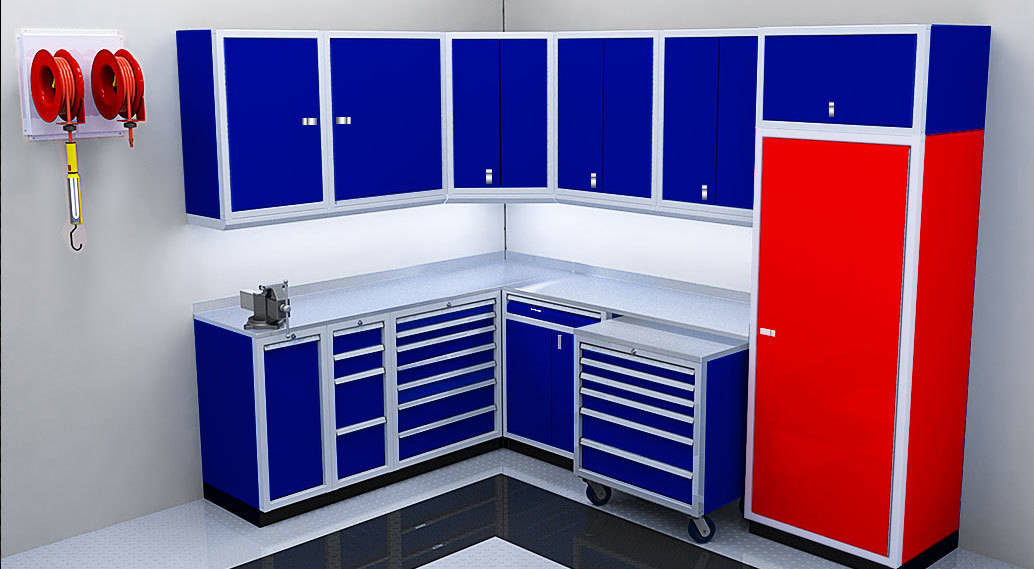 Aluminum Cabinets for Shop and Garage Storage