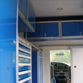 Blue Aluminum Vehicle & Trailer Cabinets