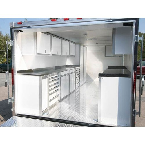 Aluminum Recycle Bin In Enclosed Trailer Layout