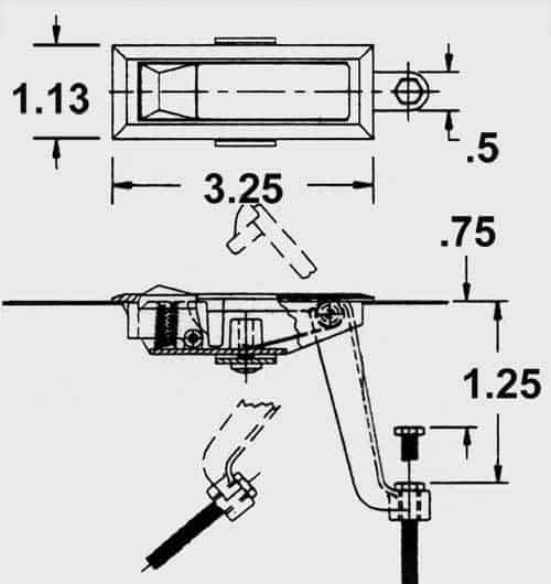 trigger latch dimensions