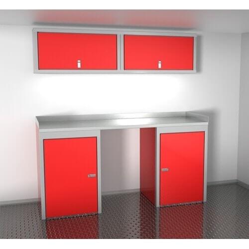"Sportsman II™ Aluminum Trailer And Vehicle Cabinet Combination 72"" Wide #SPTC006-010"