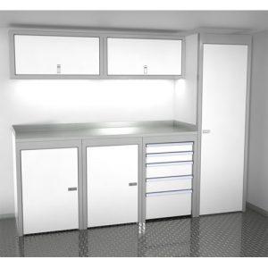 SportsmanII Aluminum Trailer And Vehicle Cabinet Combination 96″ Wide #SPTC008-040