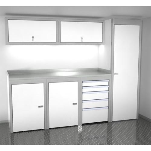 "Sportsman II™ Aluminum Trailer And Vehicle Cabinet Combination 96"" Wide #SPTC008-040"