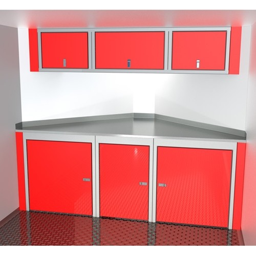 """Sportsman II™ Aluminum Trailer Cabinet Combination 7'-4""""' To 8'-5"""" Wide, Up To 32"""" Deep V-Nose #SPTC008-110"""