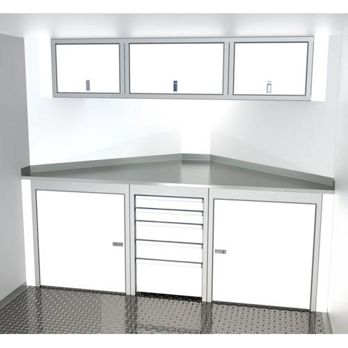 Sportsman II™ Aluminum V-Nose Trailer Cabinet Combination SPTC008-130