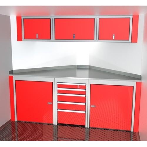Sportsman II™ Aluminum V-Nose Trailer Cabinet Combination SPTC008-140
