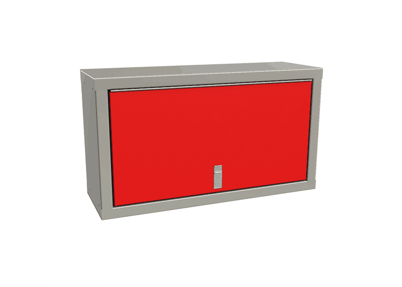 Red Overhead Cabinets For Enclosed Trailers