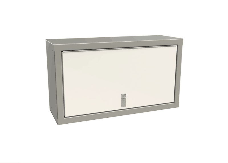 White Overhead Cabinets For Enclosed Trailers