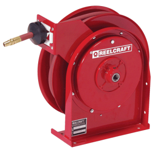 Reelcraft 5650OLP, Premium Duty, 3/8 X 50 Ft., 300 Psi, Air/Water Hose Reel With Hose
