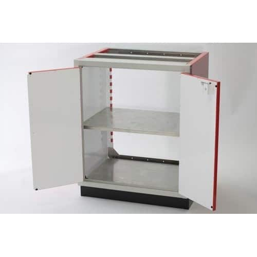 Adjustable 30x24 Aluminum PROII™ Storage Shelf In Cabinet