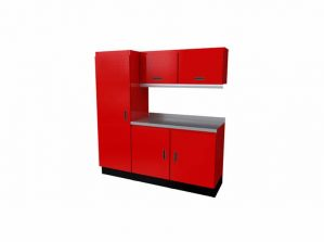 Red Moduline Select™ SERIES Aluminum Garage Cabinets