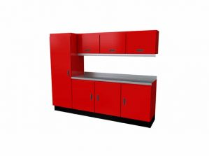 Black Moduline Select™ SERIES Aluminum Garage Cabinets