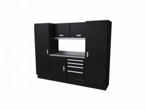 8' Wide Black Moduline Select™ SERIES Garage Cabinets