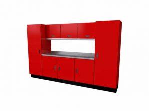 10' Wide Black Moduline Select™ SERIES Garage Cabinets